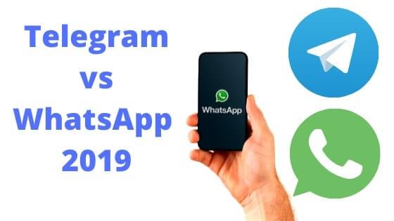 Telegram vs WhatsApp 2019