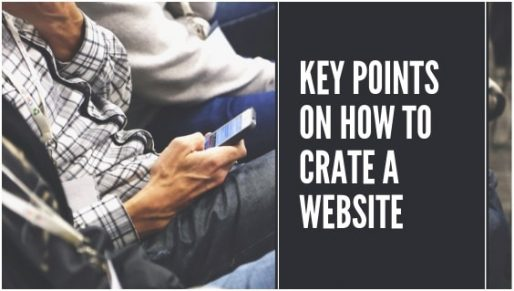 Key points on How to create a website
