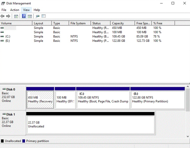 hard disk drive not showing up