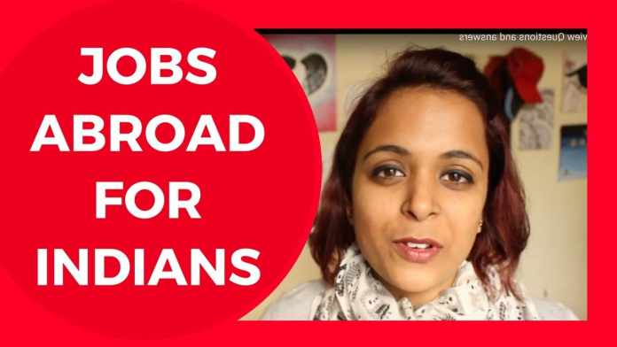 Jobs in abroad for Indians